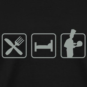 eatsleep_cook1 T-Shirts - Men's Premium T-Shirt