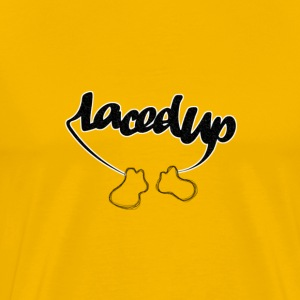 Laced Up Sneakers - Men's Premium T-Shirt
