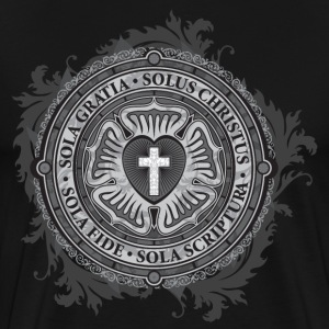 Luther Rose - Gothic Black T-Shirts - Men's Premium T-Shirt