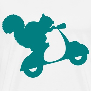 Squirrel on Scooter T-Shirts - Men's Premium T-Shirt