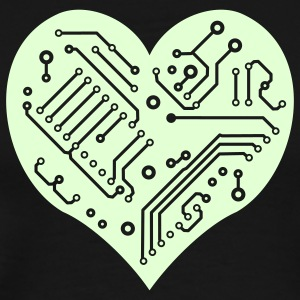 Technology Heart (1 color) T-Shirts - Men's Premium T-Shirt