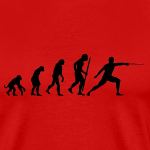 evolution of fencing T-Shirts - Men's Premium T-Shirt