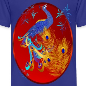 Three Feathers ans a Peacock Oval - Kids' Premium T-Shirt