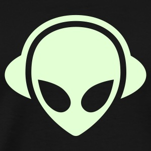 Alien headphones Glow in the dark T-Shirts - Men's Premium T-Shirt