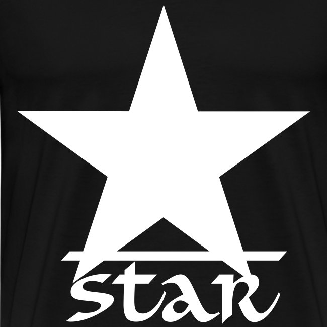 Star Series 1 Casual T-Shirt Black and White