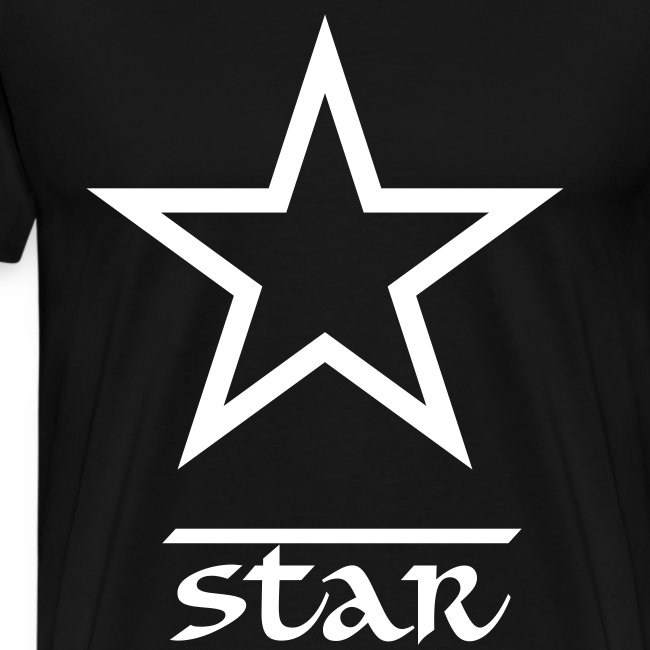 Star Casual T-Shirt Black and White