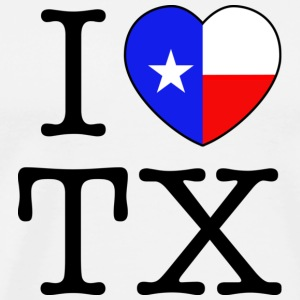I Heart Texas T-shirt - Men's Premium T-Shirt