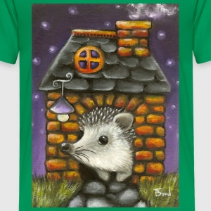 hedgehog in his cosy little home - Kids' Premium T-Shirt