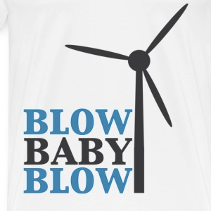 Blow Baby Blow Wind Turbine T-Shirts - Men's Premium T-Shirt
