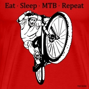 Eat Sleep Mountain Bike Repeat - Men's Premium T-Shirt