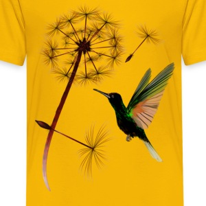 Dandelion an Little Green Hummingbird - Kids' Premium T-Shirt