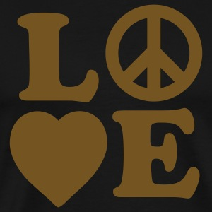 Love, Peace - Men's Premium T-Shirt