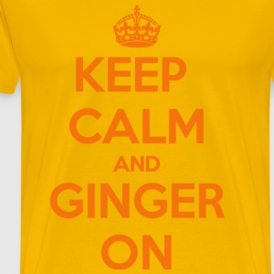 Keep Calm and Ginger On Gold T-Shirt - Men's Premium T-Shirt