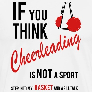Cheerleading- basket T-Shirts - Men's Premium T-Shirt