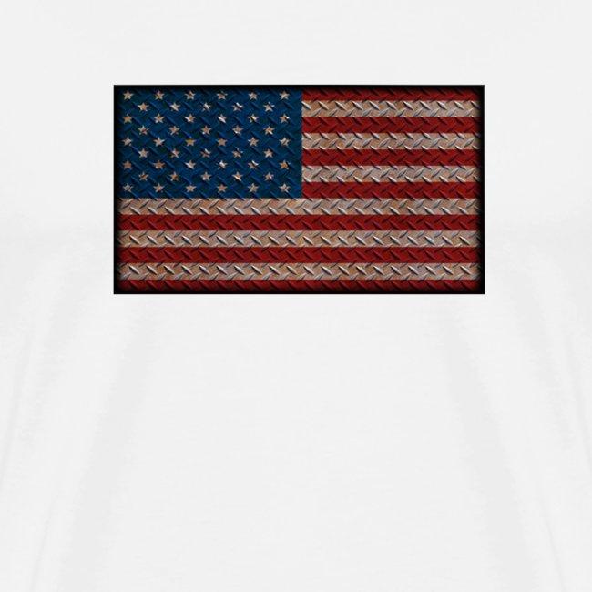 American Flag Diamond Plate