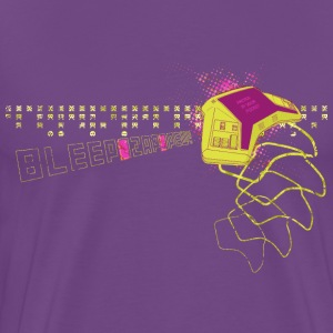 Bleep Zap Pew: Retrogaming Handheld - Men's Premium T-Shirt