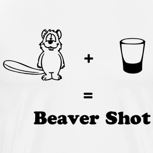 Beaver Shot - Men's Premium T-Shirt