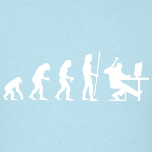evolution_computer age T-Shirts - Men's T-Shirt
