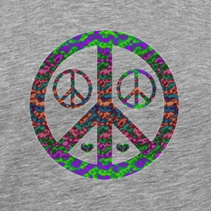 Multi Colored Peace 3x - Men's Premium T-Shirt