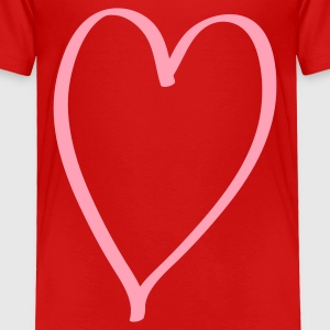 Heart Toddler Shirts - Toddler Premium T-Shirt