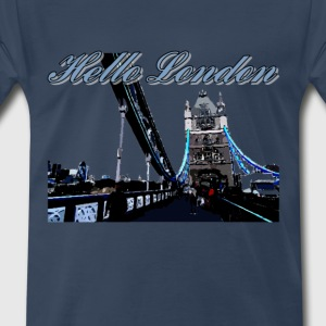 Hello London Tower Bridge - Men's Premium T-Shirt