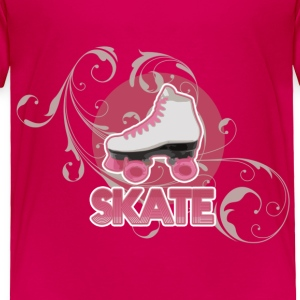 Roller Skate Derby, Skating Girl Kids Baby & Toddler Shirts - Toddler Premium T-Shirt