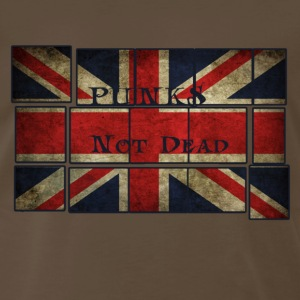 Punks Not Dead on the English flag.  T-Shirts - Men's Premium T-Shirt