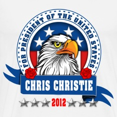 Chris Christie for president 2012 Eagle head T-Shirts