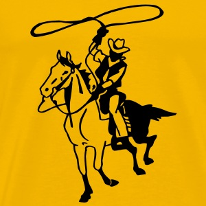 Roping Cowboy - Men's Premium T-Shirt