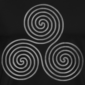 TRIPLE SPIRAL one line silver | Men's heavyweight shirt - Men's Premium T-Shirt