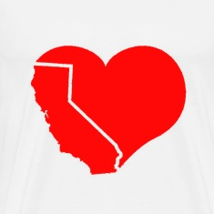 California Heart T-Shirts