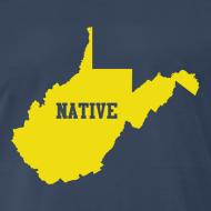 Design ~ WV Native - Gold on Blue w/Logo on Back