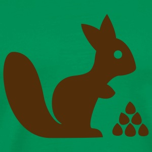 Squirrel with nuts T-Shirts - Men's Premium T-Shirt