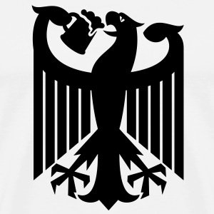 Coat of arms of Germany (drinking beer) T-Shirts - Men's Premium T-Shirt