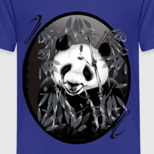Grey tone Panda-oval - Kids' Premium T-Shirt