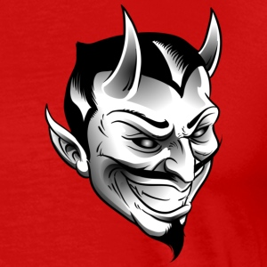 B&W Devil ( HD Pixel Design ) - Men's Premium T-Shirt