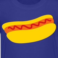 hot dog with ketchup tomato sauce Kids' Shirts