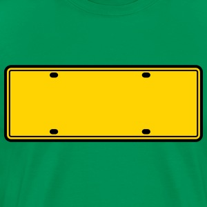 simple 2 color blank licence plate T-Shirts - Men's Premium T-Shirt