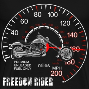 Freedom Rider MotorCycle Chopper 2 White T-Shirts - Men's Premium T-Shirt