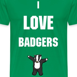 I Love Badgers - Men's Premium T-Shirt