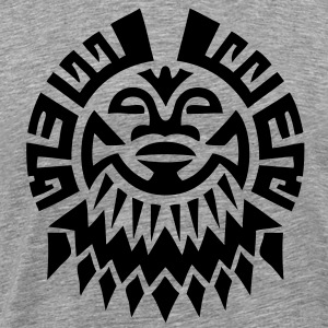 $ Mayan Tribal Face VECTOR T-Shirts - Men's Premium T-Shirt