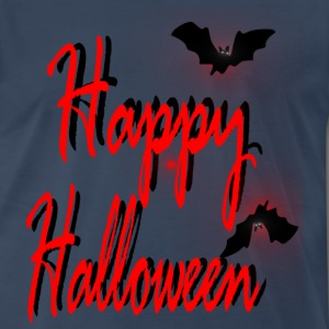happy halloween txt  bats art Men's Heavyweight T-Shirt - Men's Premium T-Shirt