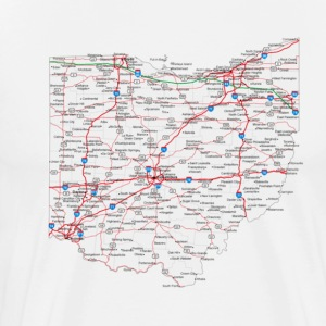ohio road map - Men's Premium T-Shirt
