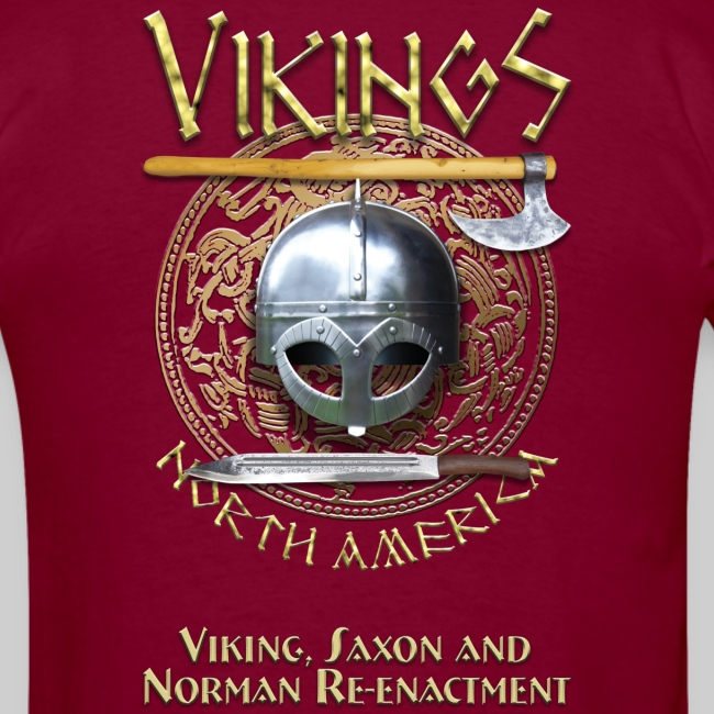 Vikings North America T-Shirt - Tagline Front/Logo Back