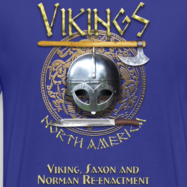 Vikings North America T-Shirt - Small Tagline Front/Logo Back