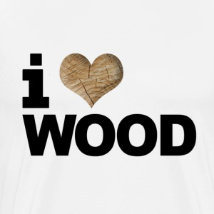 i love or heart wood design men tee - Men's Premium T-Shirt