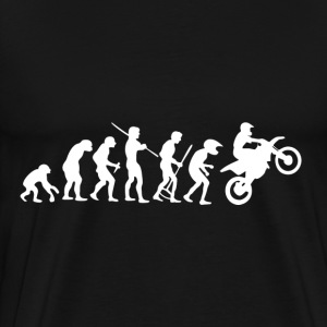 Motorcycle Rider Evolution Cross - Men's Premium T-Shirt