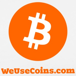 Orange on White Bitcoin - Men's Premium T-Shirt