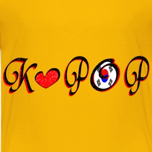 kpop txt red heart art Kids' Shirts - Kids' Premium T-Shirt