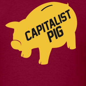 Capitalist Piggy Bank - Men's T-Shirt